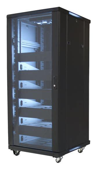 19 quot equipment rack enclosure 27u preloaded w shelves