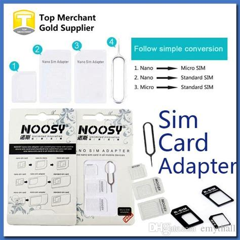 iphone 6 nano sim card template 4 in 1 noosy nano micro sim adapter eject pin for iphone 5