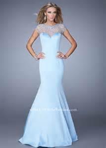 2015 powder blue la femme 21345 sparkly beaded satin