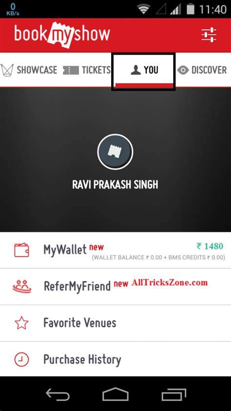 bookmyshow login boom bookmyshow refer earn rs 100 per every refer your