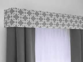 Contemporary Valance Curtains Ideas Custom Cornice Board Valance Box Window Treatment Custom Curtain Topper In Modern Grey And