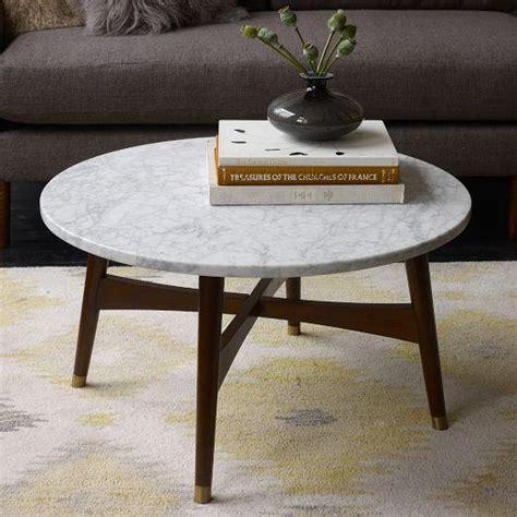 reeve mid century coffee table marble west elm