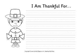 i am thankful for template prek card thanksgiving activities for