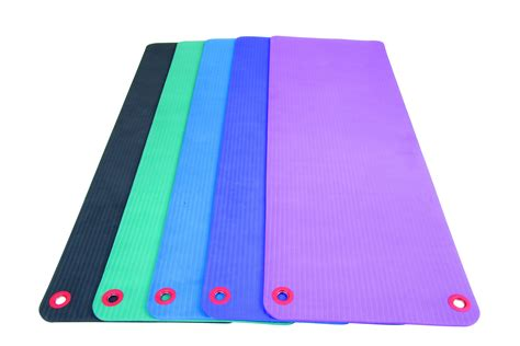ecowise workout fitness mat with eyelets live well sports