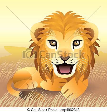 imagenes vectores leon vectores de le 243 n cachorro ilustraci 243 n de beb 233 le 243 n