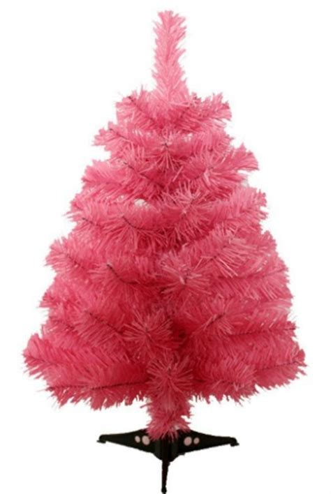 mini pink christmas trees