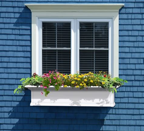 vinyl window boxes planters mayne 48 inch window box vinyl planter