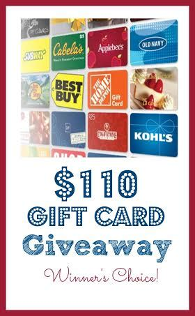Gift Card Giveaway Template by Enter To Win The 110 Gift Card Giveaway Winner S Choice
