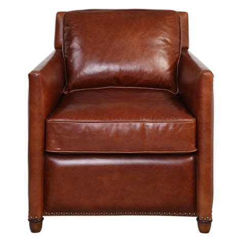 Cognac Leather by Albany Cognac Leather Club Chair