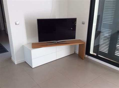 meubles de salon contemporains sur mesure bois concept