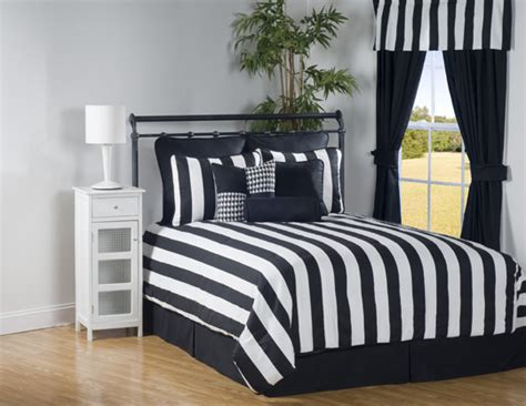 black and white striped comforter set 4pc black white modern sleek striped comforter set cal