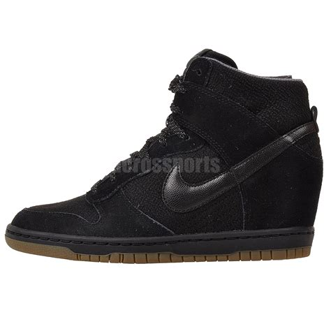 nike wedge sneakers sale nike wmns dunk sky hi essential black womens fashion wedge