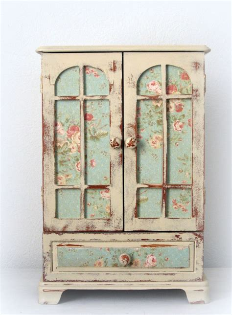 shabby armoire huge shabby chic jewelry box dresser armoire french