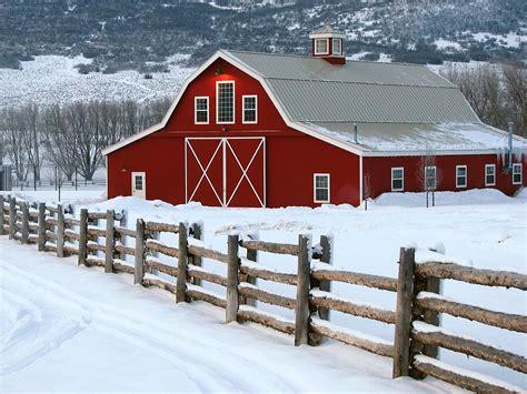 Winter Barn winter barn by david kocherhans