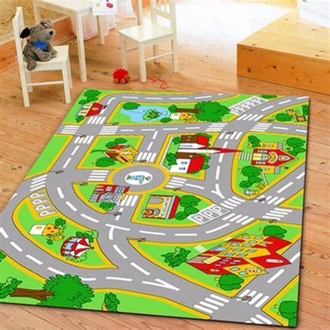 Huahoo Kids Rug With Roads Kids Rug Play Mat City Street Rug With Roads