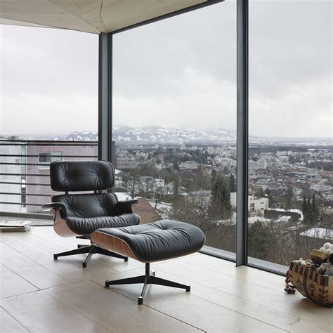 black vitra lounge chair  walnut   shop