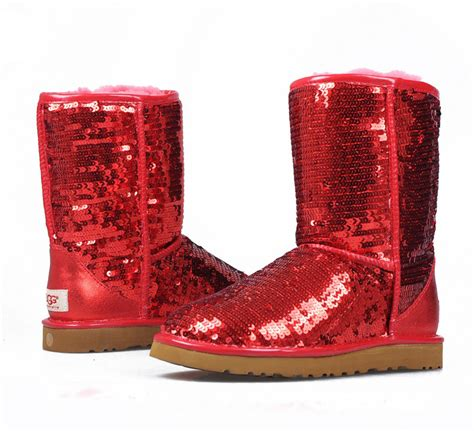 Grant Gibson by Sparkles Ugg Ruby Red Classic Short 08 Tobi Fairley