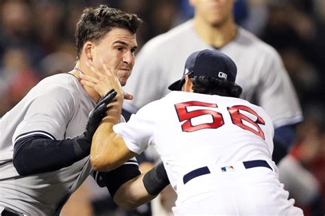 yankees red sox benches clear red sox vs yankees benches clear twice three ejected