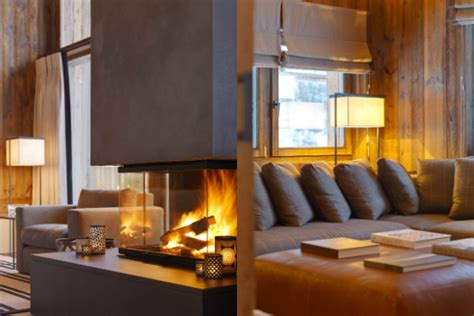 modern apartment interior design in warm and style spacious chalet with warm and cosy ambience interior