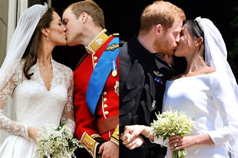 Royal Wedding Comparison by Meghan Markle Kate Middleton Wedding Comparison Photos