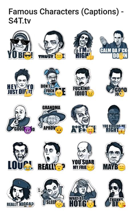 characters caption stickers 4 telegram