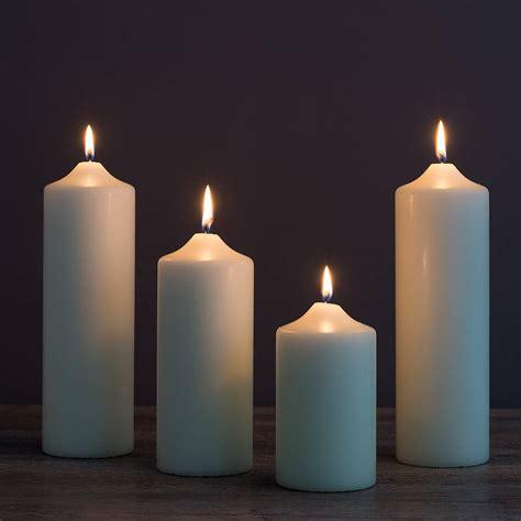 Pillar Candles Chapel Pillar Candles By The Flower Studio