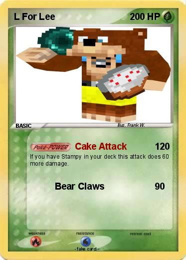 L For by Pok 233 Mon L For 7 7 Cake Attack Card