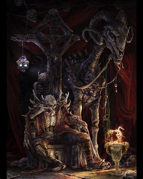 concept art fantasy illustrations photoshopcoolvibe digital art 2d lllustration the lord of death 2d digital concept
