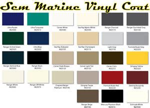sem color coat chart sem marine material dye sem marine vinyl coat changes or