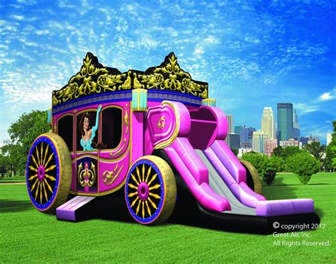 rental bounce house princess carriage combo party rental dallas tx