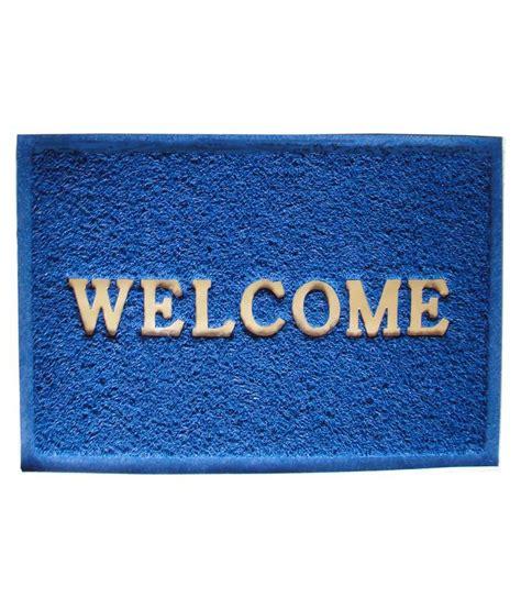 majesty home decor blue ethnic floor mat buy majesty majesty home decor welcome crush blue door mat buy