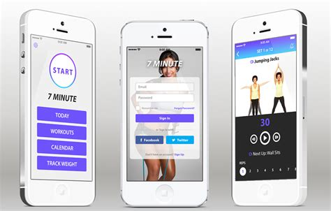 ios template fitness ios app template