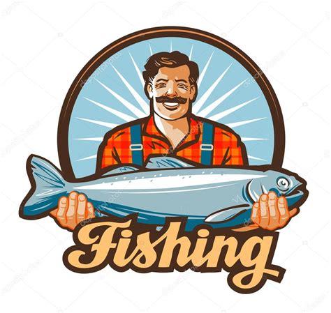 lund boats vector logo fishing vector logo fisherman or fish icon stock vector