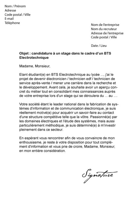 Modèle De Lettre De Motivation Pour Un Stage Pdf Lettre De Motivation Bts Assurance Stage Employment Application