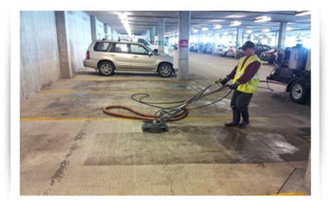 Power Wash Garage by Parking Garages