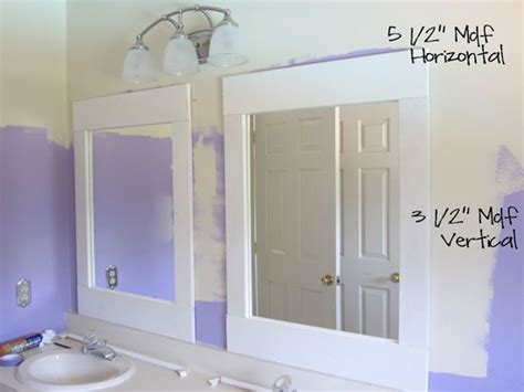 bathroom mirror trim ideas diy bathroom update mirrors in my own style