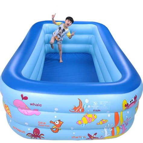 New Kolam Intex Swim Cwnter Family aliexpress buy 250cm rectangle 3 ring