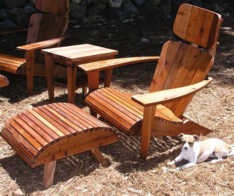 Modern Adirondack Chairs by Modern Adirondack Chair Set Chair Headrest Ottoman And Side