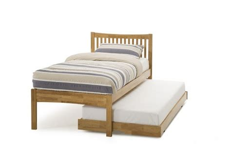 Wooden Single Bed Frames Serene Honey Oak 3ft Single Wooden Guest Bed Frame By Serene Furnishings