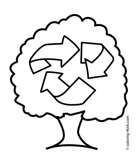 recycling symbol coloring pages