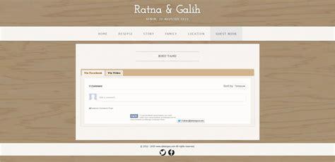 Undangan Box desain undangan box simple wedding website template