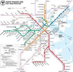 Boston Mta Map by Boston Bus Connection Map Mapsof Net
