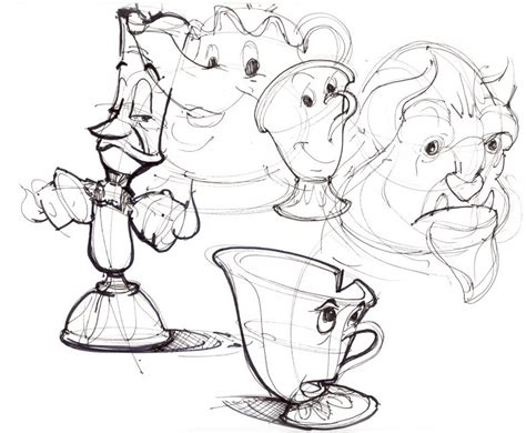disney cartoon characters draw lineweights 476263
