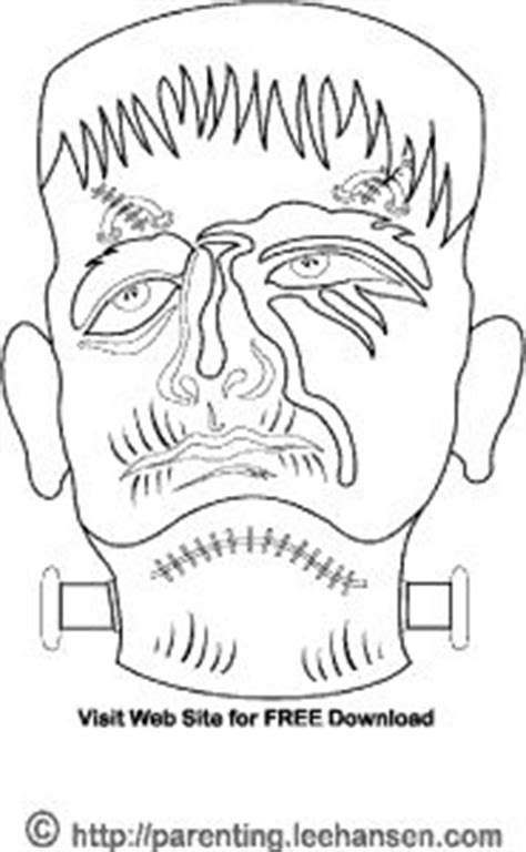 monster mask coloring page 1000 images about halloween coloring pages on pinterest