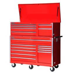16 Drawer Tool Chest by International Tech Series 56 In 16 Drawer Tool Chest Combo Vrc 5616rd The Home Depot