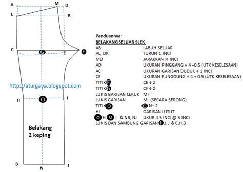 pola seluar pelikat aturgaya blogspot com cara melukis pola seluar slek wanita