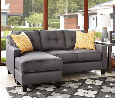 aldie nuvella gray sofa chaise aldie nuvella gray sofa chaise sofas living room
