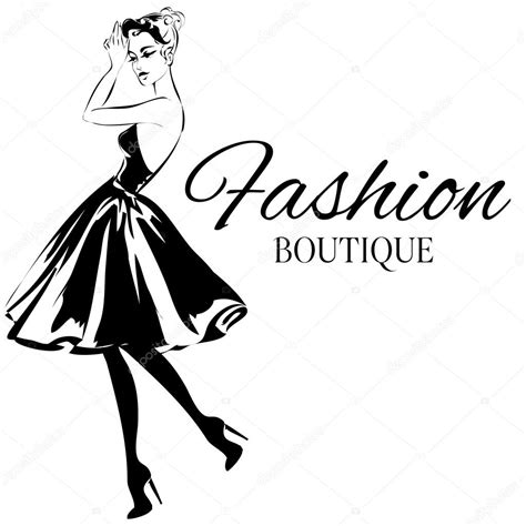 imagenes de moda sin copyright fashion boutique logo with black and white woman