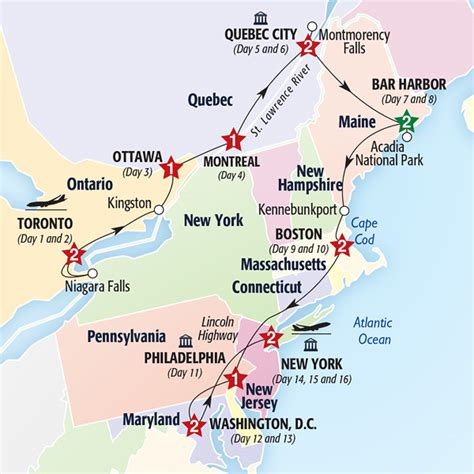 map of eastern usa and canada best of eastern canada and usa