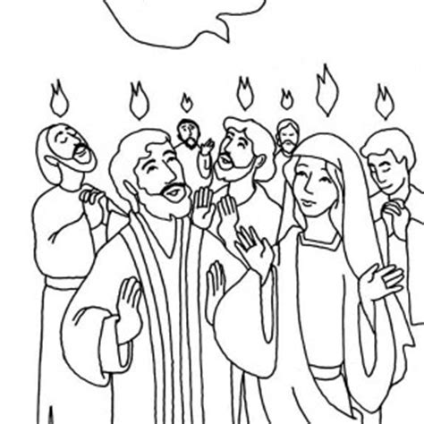holy spirit pentecost coloring pages pentecost is the descent holy spirit coloring page